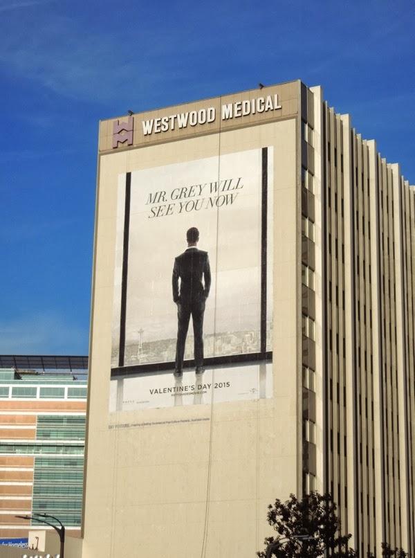 Giant 50 shades of grey movie teaser billboard