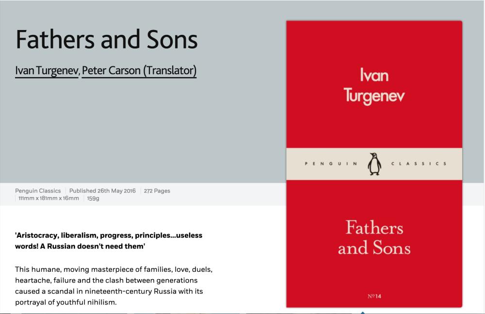 Tourgueniev Pères et fils